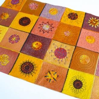 Soleil Couchant, fiche patchwork art textile à télécharger