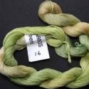 Coton perlé fin de Stef Francis vert dégradé 16