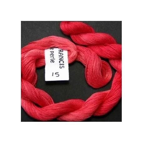 Coton perlé fin de Stef Francis rouge 15