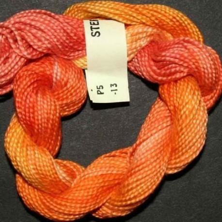 Perlé 5 Stef Francis rouge orange col 13