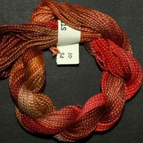 Perlé 5 Stef Francis rouge marron 7
