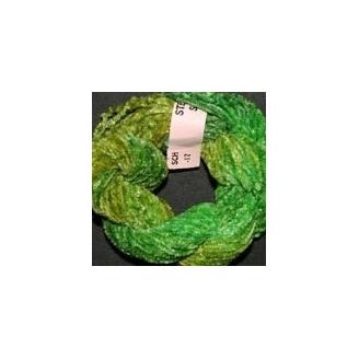 Chenille de soie vert 17