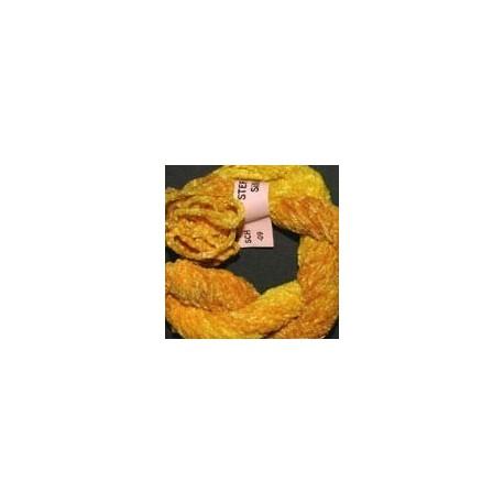 Chenille de soie jaune 9
