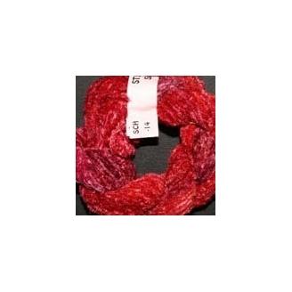 Chenille de soie dégradé rouge 14