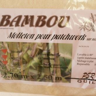 Molleton bambou 270 x 250 cm (sur non-tissé)
