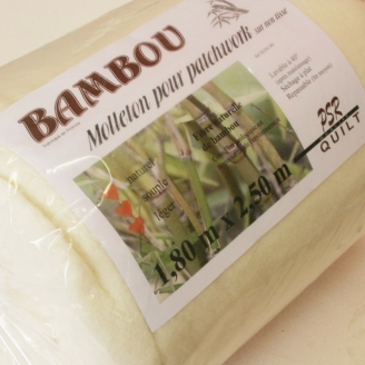 Molleton bambou pour patchwork 180 x 250 cm (sur non-tissé)