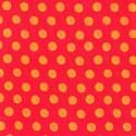 Tissu patchwork Kaffe Fassett pois oranges fond rouge GP70