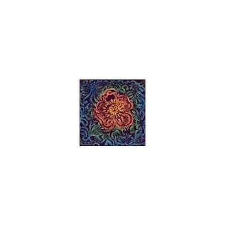 Plaque texturée les 5 fleurs