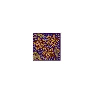 Plaque texturée fleur d'hibiscus