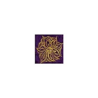 Plaque texturée fleur étoilée