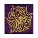 Plaque texturée grande fleur