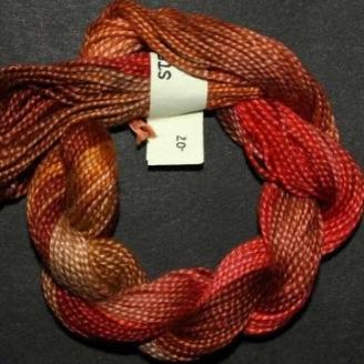Perlé 8 Stef Francis rouge marron 7