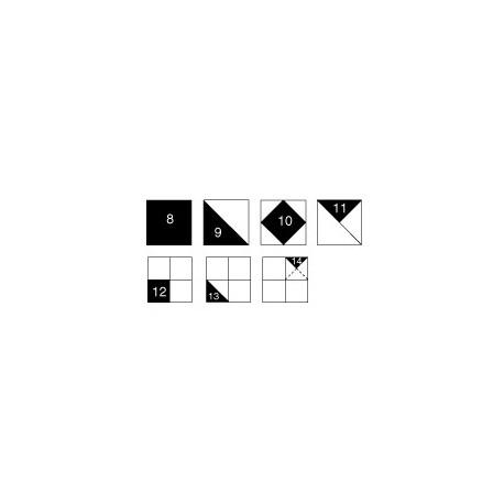 Perfect Patchwork templates, gabarits pour patchwork de Marti Michell - Set B