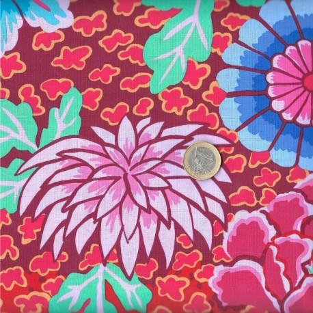 Tissu patchwork Kaffe Fassett bordeaux Dream