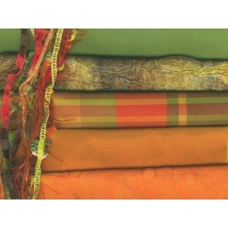 7 coupons précieux orange/vert