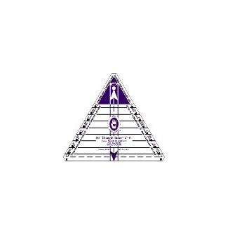 """Règle pour patchwork de Marti Michell - triangle 60° de 2"""" à 6"""""""