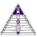 """Triangle 60° de 2"""" à 6"""" - Règle pour patchwork de Marti Michell"""