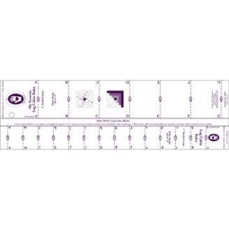 """Règle pour patchwork de Marti Michell - Log cabin 1"""" et 2"""""""
