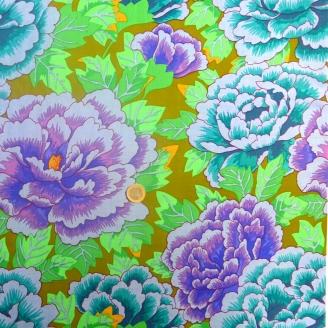 Tissu patchwork Kaffe Fassett bleu violet Kimono