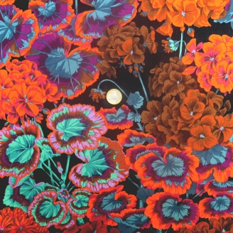 Tissu patchwork Philip Jacobs noir GERTRUDE