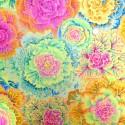 Tissu patchwork Philip Jacobs choux jaune BRASSICA