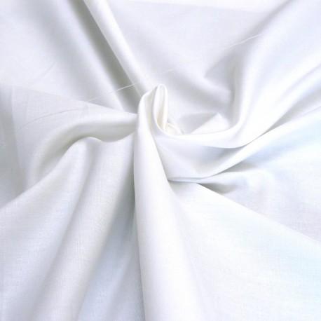 Popeline de coton blanche à teindre