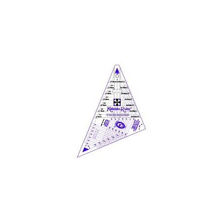 """Règle pour patchwork de Marti Michell - Petit Kaléidoscope 2"""" à 8"""""""