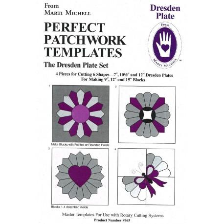 Gabarits pour patchwork de Marti Michell - Assiette de Dresde