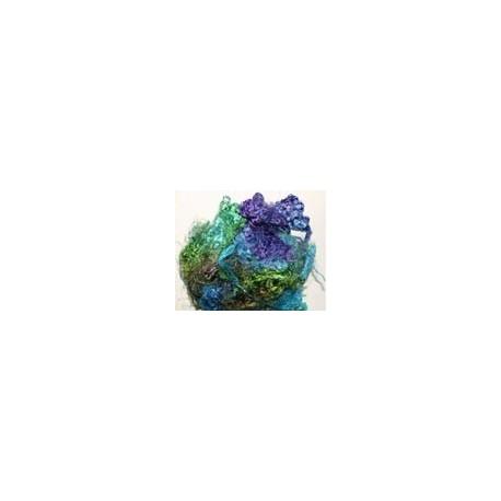 Fibres de soies bleu/violet/vert