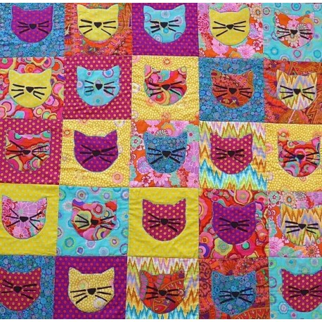 Chat Alors! - kit de patchwork