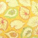 Tissu Philip Jacobs Big Leaf (feuille) jaune vert PJ70