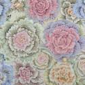 Tissu Philip Jacobs choux Brassica PJ51 gris