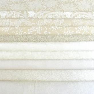 10 tissus ton sur ton blancs et beiges