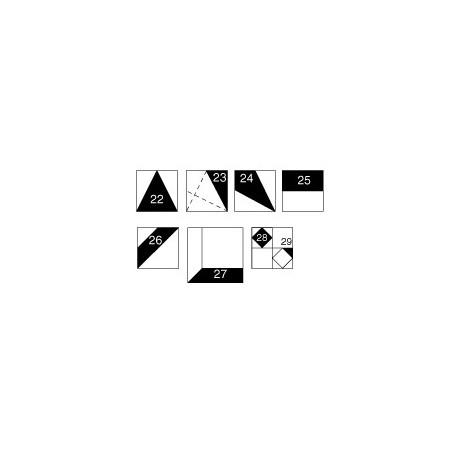 Gabarits pour patchwork de Marti Michell - Set D