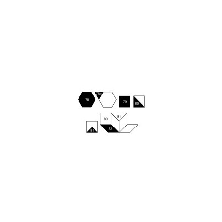 Gabarits pour patchwork de Marti Michell - Mini géométriques Set N