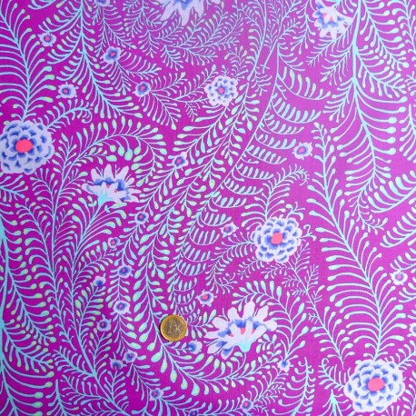 Tissu Kaffe Fassett Ferns violet