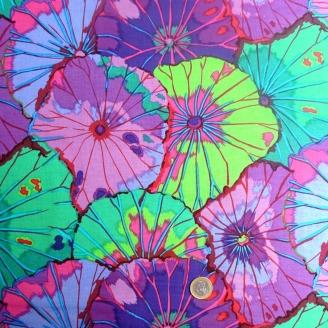 Tissu Kaffe Fassett Feuilles de lotus (Lotus Leaf) violet