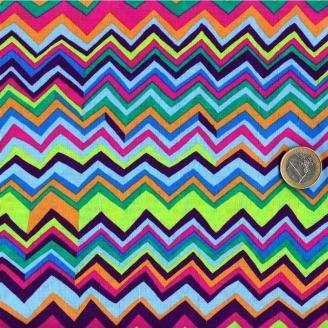 Tissu Brandon Mably Rayures zig zag multicolores
