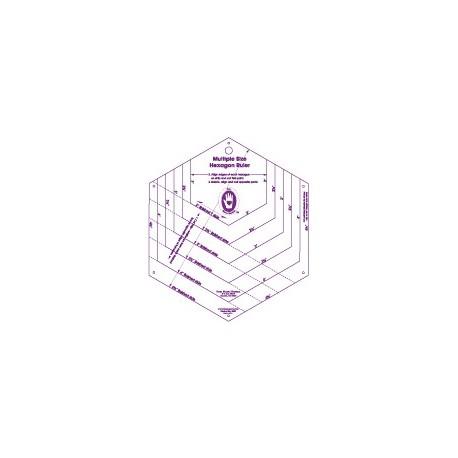 Gabarits pour patchwork de Marti Michell - Règle pour hexagones