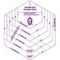 Règle pour hexagones - Gabarits pour patchwork de Marti Michell