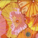 Tissu Kaffe Fassett jaune feuille de Lotus (Lotus leaf).
