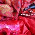 Saris recyclés - Feu de Bengale