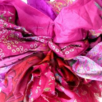 Saris recyclés - Fleur de Lotus