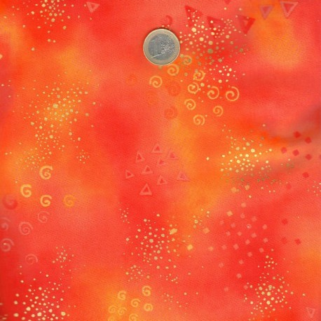 Tissu imprimé Laurel Burch orange