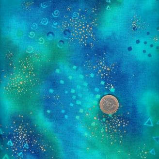 Tissu imprimé Laurel Burch Bleu roi