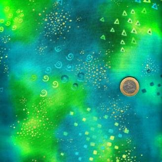 Tissu imprimé Laurel Burch lagon turquoise