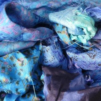 Saris recyclés - Océan indien