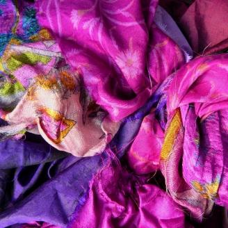 Saris recyclés - Dehli