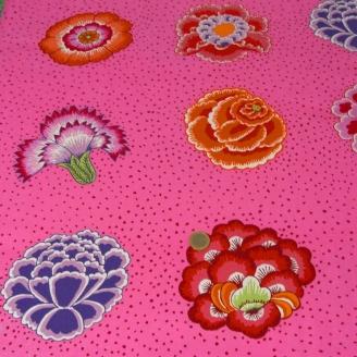 Tissu Kaffe Fassett grandes fleurs CORSAGE rose (40 cm)