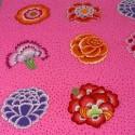 Tissu Kaffe Fassett grandes fleurs CORSAGE rose (35 cm)